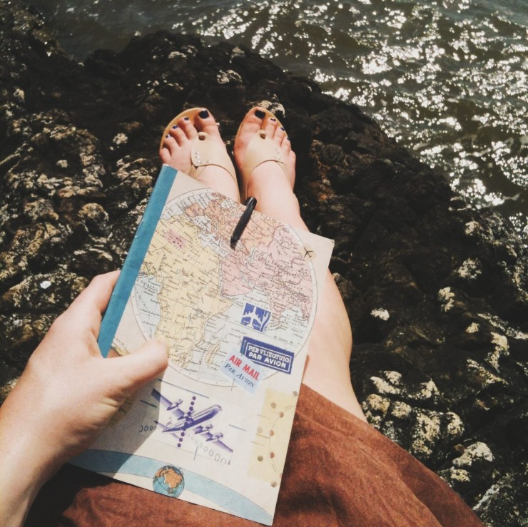 Travels of a travel journal: the place where I wrote this.