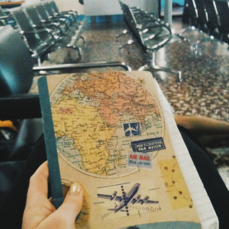 Travels of a travel journey - the place where I wrote this (airport Bluefields)